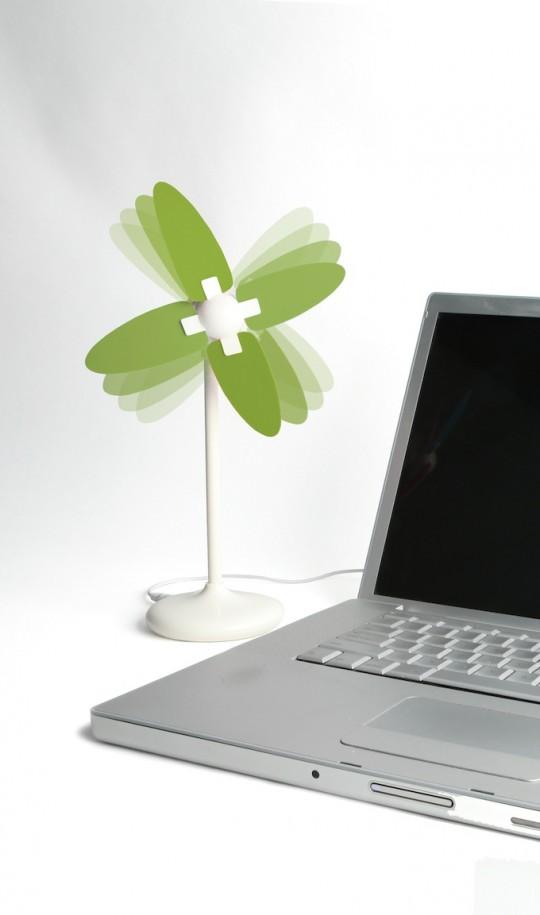 Ventilaeur USB moulin à vent Kikkerland