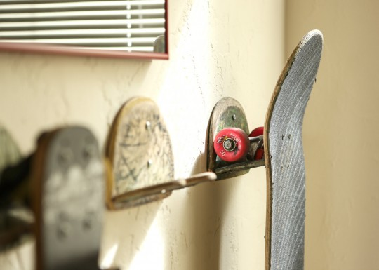 Accroche skateboard recyclé