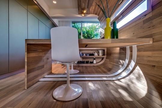 Appartement cosy Tel Aviv - Bureau en bois