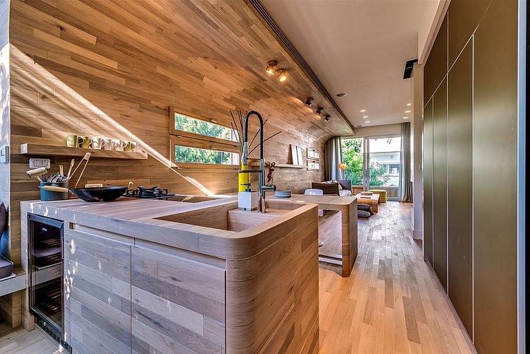appartement cosy tel aviv cuisine ouverte. Black Bedroom Furniture Sets. Home Design Ideas