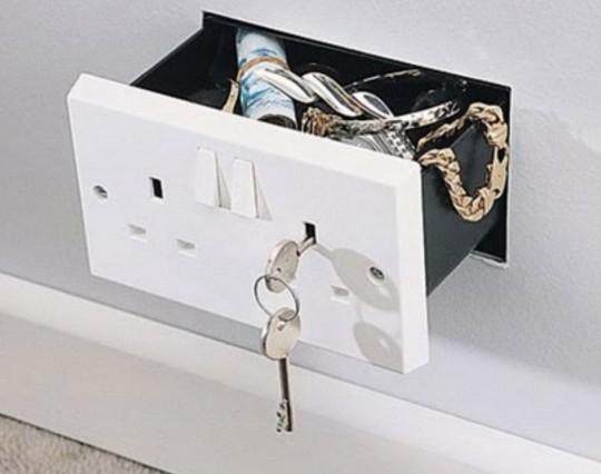 Coffre-fort prise électrique