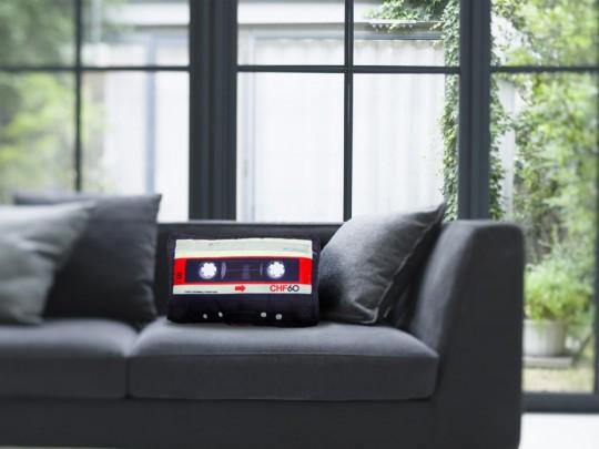 Coussin cassette audio
