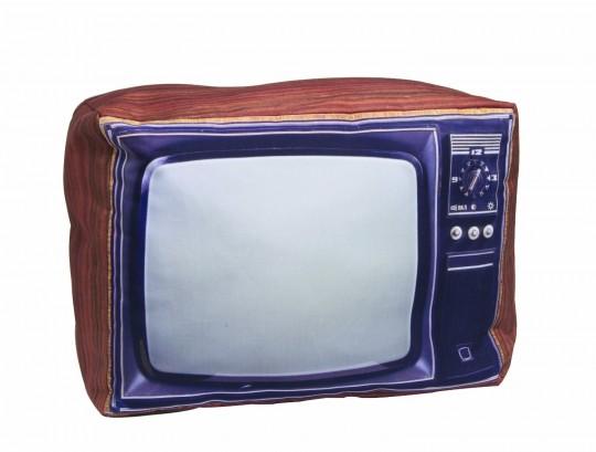 Coussin poste TV rétro
