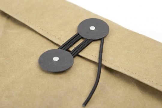 Housse enveloppe kraft avec ficelle et rondelles