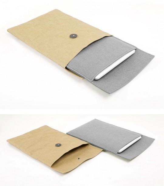 Housse enveloppe kraft et housse en feutre pour Macbook pro
