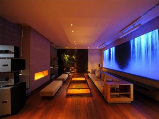 L'appartement avec 1 chambre le plus cher du monde - espace détente avec cheminée