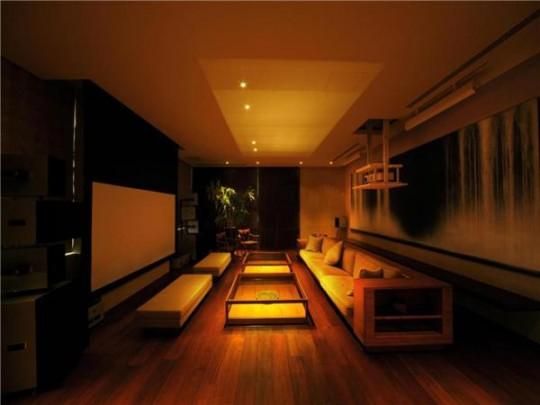 L'appartement avec 1 chambre le plus cher du monde - pièce home cinéma