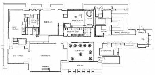 L'appartement avec 1 chambre le plus cher du monde - plan