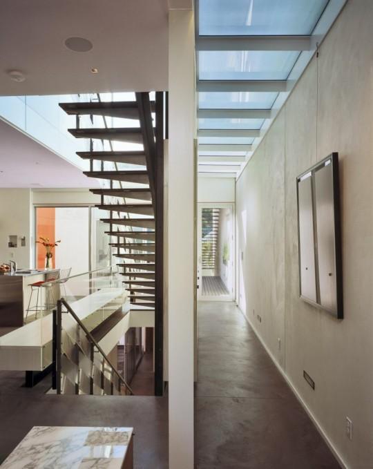 1532 House - San Francisco - couloir et escalier