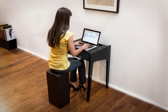 Bureau avec enceintes intégrées La boite concept