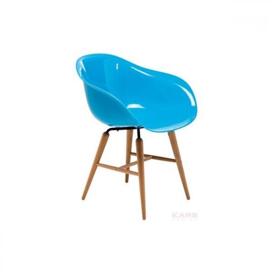 Fauteuil forum bleu Kare Design