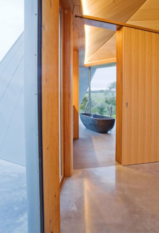 Maison Croft par James Stockwell - baignoire ilot