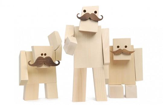 Woodstache - personnages en bois moustachus