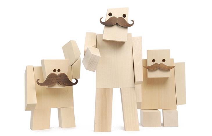 Woodstache  personnages en bois moustachus ~ Personnage En Bois