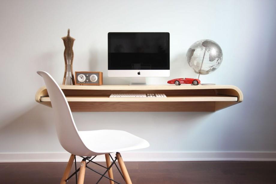 bureau mural floating desk. Black Bedroom Furniture Sets. Home Design Ideas