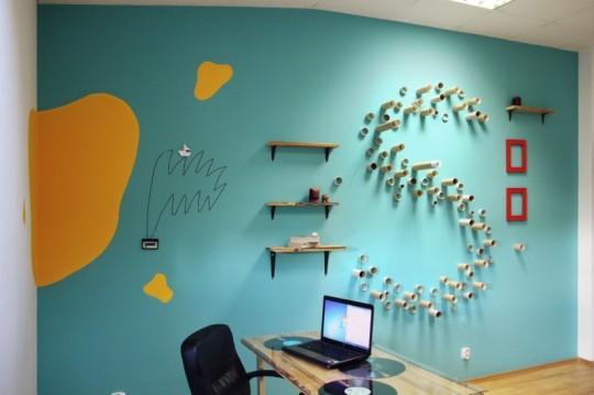 Bureaux Webshake - déco S mural