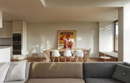 Maison contemporaine à Brighton en Australie - salle à manger