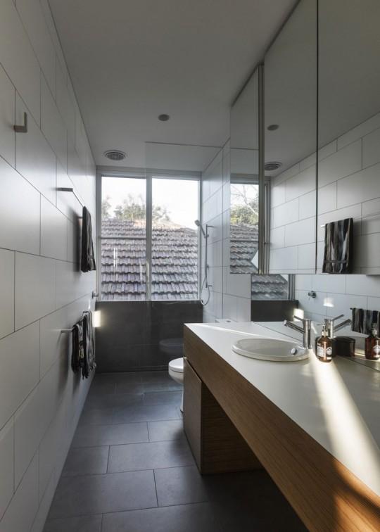 Maison contemporaine à Brighton en Australie - salle de bain