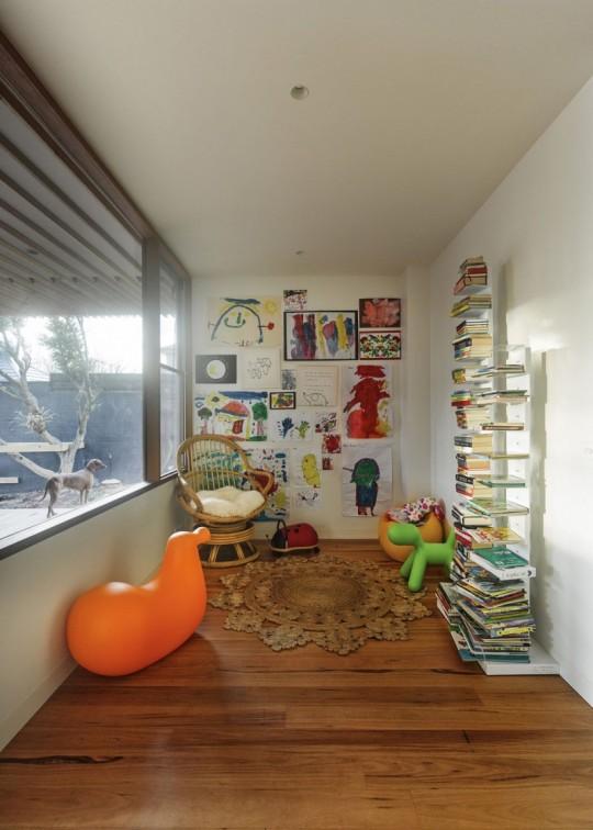 Maison contemporaine à Brighton en Australie - salle de jeux des enfants