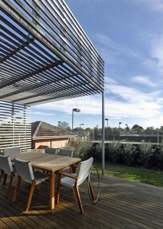 Maison contemporaine à Brighton en Australie - terrasse