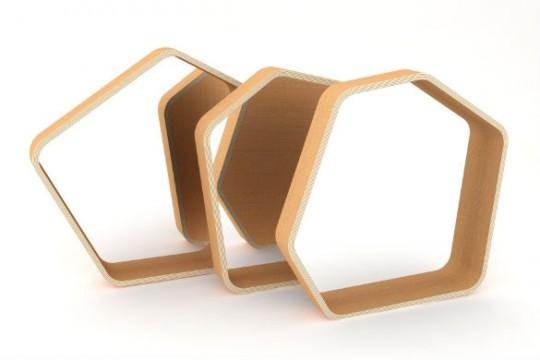 Miroir 5 cotés en chêne - La nomade du design