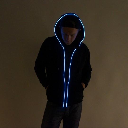 Sweatshirt néon lumineux bleu