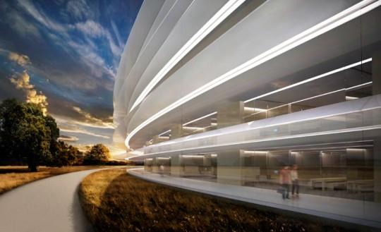 Apple Campus Cupertino - autour de l'anneau