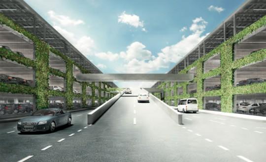 Apple Campus Cupertino - parking souterrain