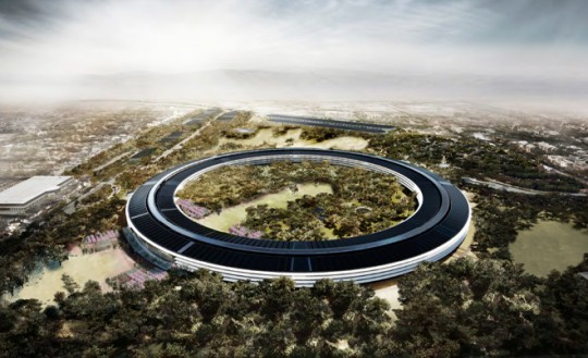 Apple Campus Cupertino - photo aérienne