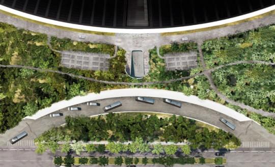 Apple Campus Cupertino - plan aérien