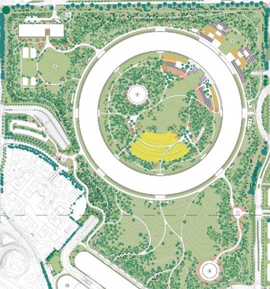 Apple Campus Cupertino - plan général