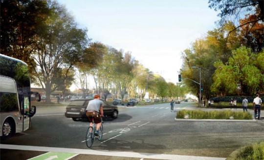 Apple Campus Cupertino - rue voisines