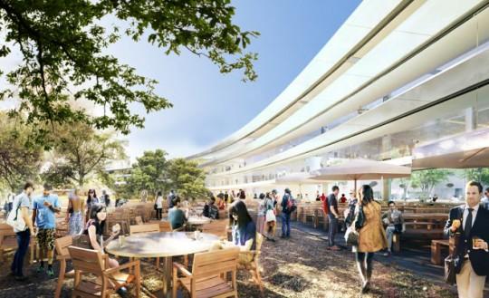Apple Campus Cupertino - terrasse
