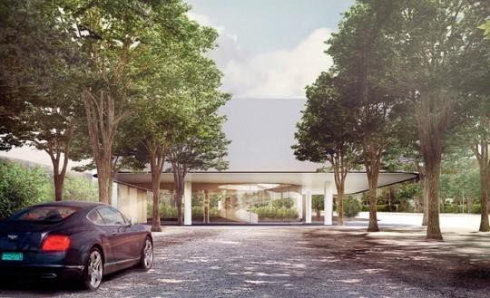 Apple Campus Cupertino - vue de la rue