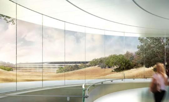 Apple Campus Cupertino - vue du bâtiment principal