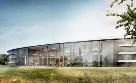 Apple Campus Cupertino - vue extérieure de l'anneau
