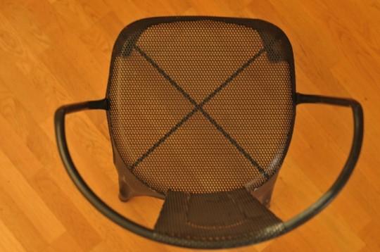 Chaise en metal Barak7 vue de dessus