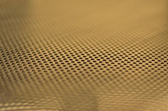 Zoom grille de la chaise metallique Barak7