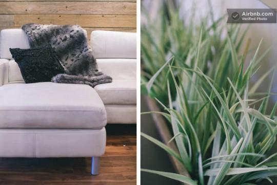 Airbnb canapé dans un studio à Montréal