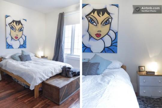 Airbnb chambre dans un studio à louer à Montréal