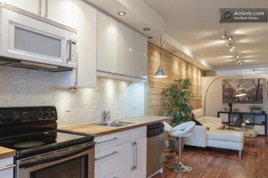 Airbnb cuisine américaine dans un studio à Montréal