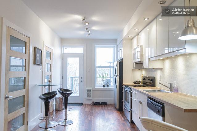 airbnb cuisine dans un appartement montr al. Black Bedroom Furniture Sets. Home Design Ideas