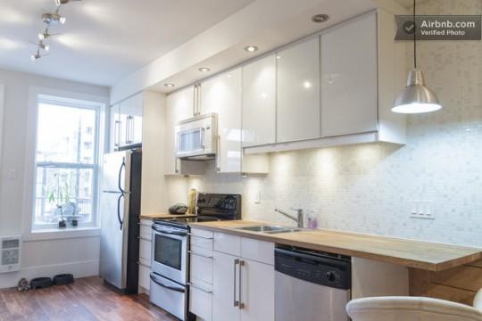 Airbnb cuisine dans un studio à Montréal