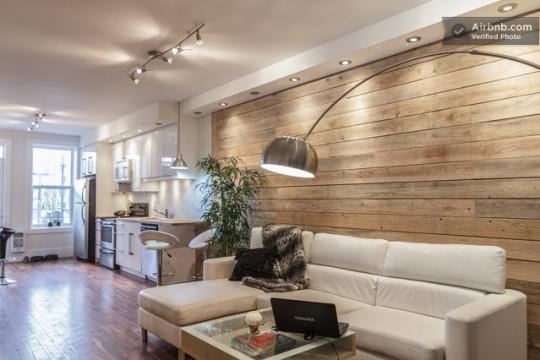 deco salon moderne bois. Black Bedroom Furniture Sets. Home Design Ideas