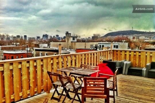 Airbnb terrasse d'un studio à Montréal