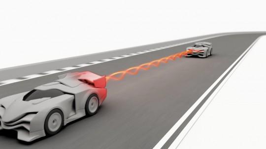 Anki Drive - tir entre voitures