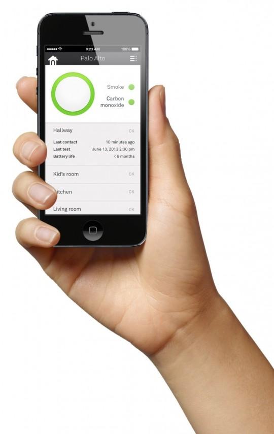 Application iphone pour détecteur de fumée Nest