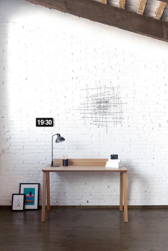 Bureau Ernest mur blanc intérieur contemporain