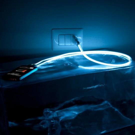 Chargeur iPhone avec câble lumineux