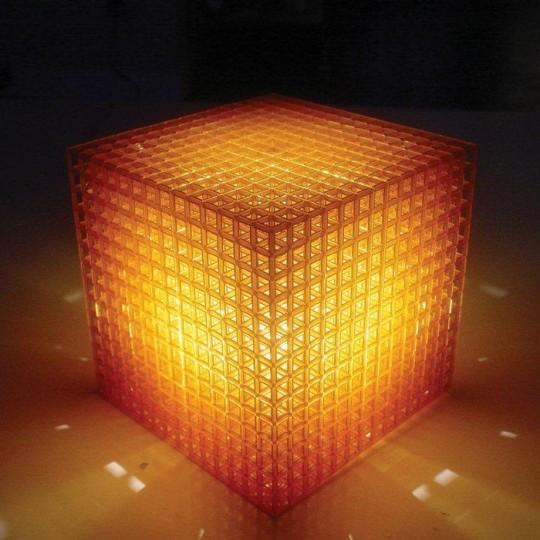 Cube lumineux réalisé avec une imprimante 3D